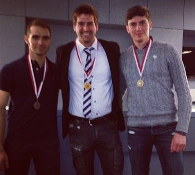 From left: Benoit Bride (2nd), Me (first), Giuseppe Alberti (3rd)